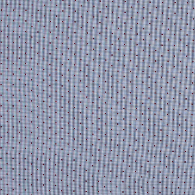 red polka dotted navy and white graph check cotton shirting 118433 11