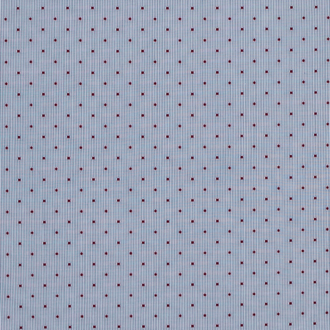 red polka dotted navy and white pinstriped cotton shirting 118417 11