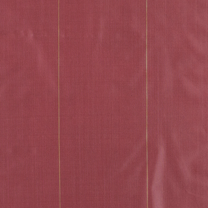red polyester taffeta with metallic gold stripes 319084 11