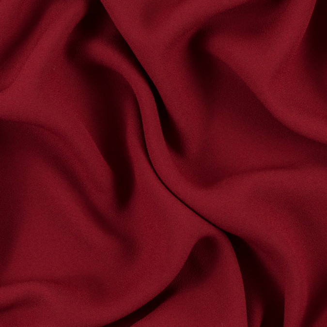red satin faced polyester crepe 310972 11