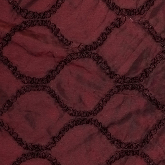 rosewood and black iridescent ribbon embroidered taffeta 315485 11