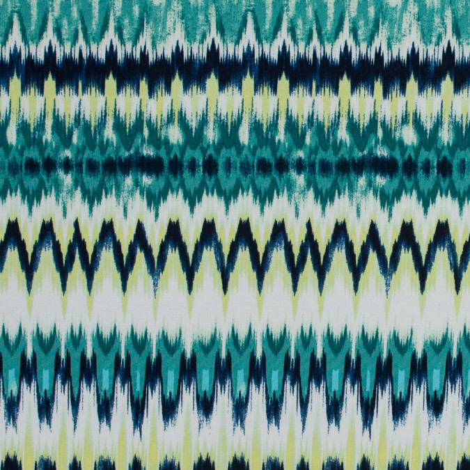 royal green and lime ikat printed jersey 316456 11