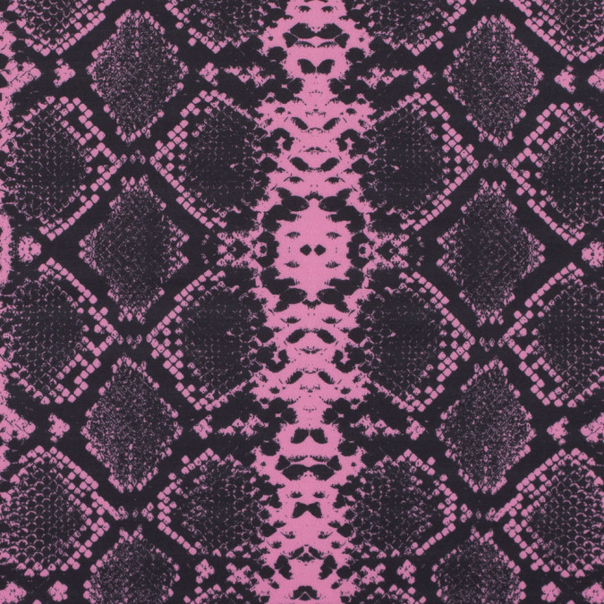 sachet pink and black python digitally printed stretch neoprene scuba knit 313774 11