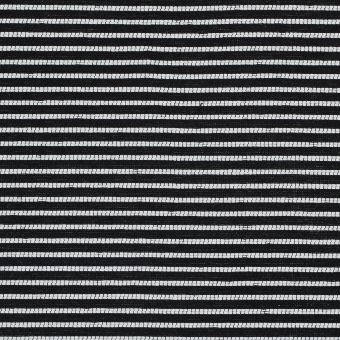 sea ny black and white striped loosely woven cotton blend 318033 11