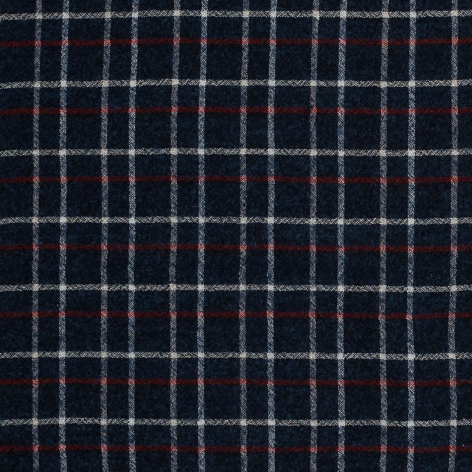 sea ny italian red white and blue plaid wool blend 318004 11