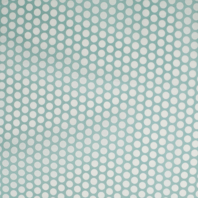 seafoam polka dotted cotton voile 306385 11