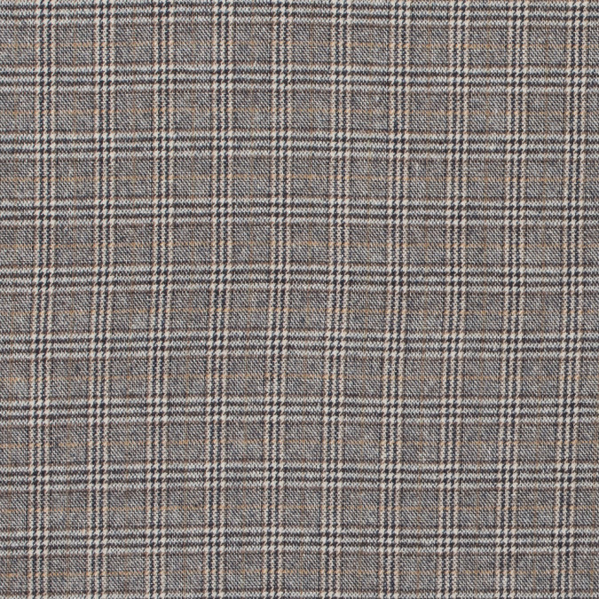 sepia white swan and sand glen plaid brushed cotton suiting 315443 11