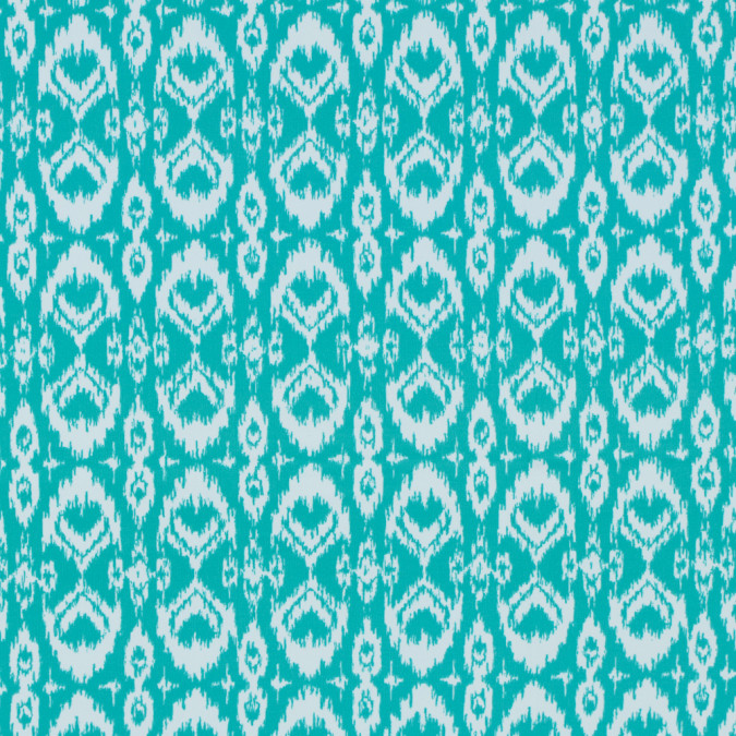 spectra green ikat printed polyester spandex 313494 11