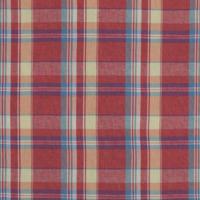 summer fig blue and yellow madras plaid sheer cotton woven 318841 11