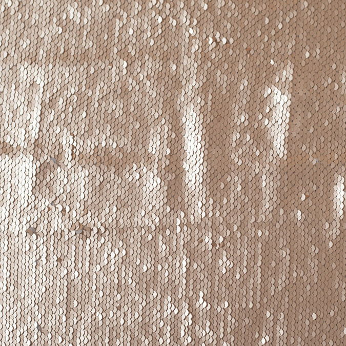 taupe and silver two toned paillette sequins on a stretch backing 108011 11