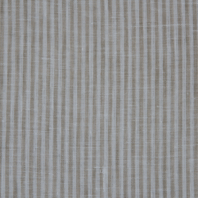 taupe candy striped light weight linen 310985 11