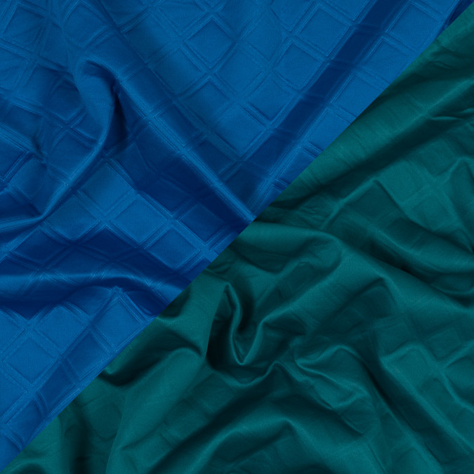 teal green and blue diamond quilted double faced neoprene 318638 11