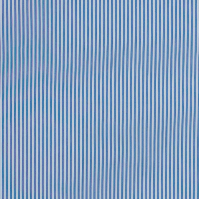 theory blue and white striped stretch cotton shirting 317895 11