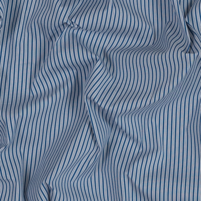theory blue and white striped stretch cotton shirting 318749 11