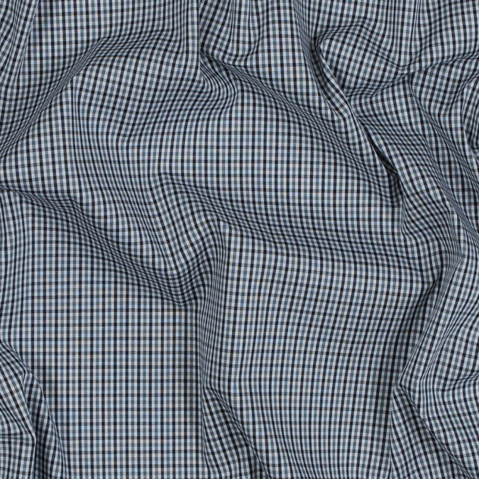 theory eclipse blue tattersall checkered cotton shirting 318185 11