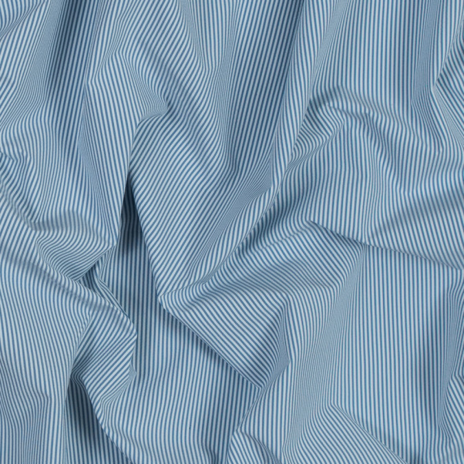 theory jean blue and white striped polyester shirting 317682 11