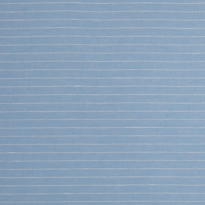 theory light blue and white pinstriped cotton and linen blend 317704 11