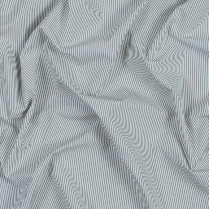 theory light slate and white striped polyester shirting 317692 11