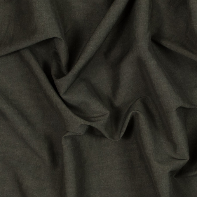 theory muted olive drab stretch linen and viscose woven 318680 11