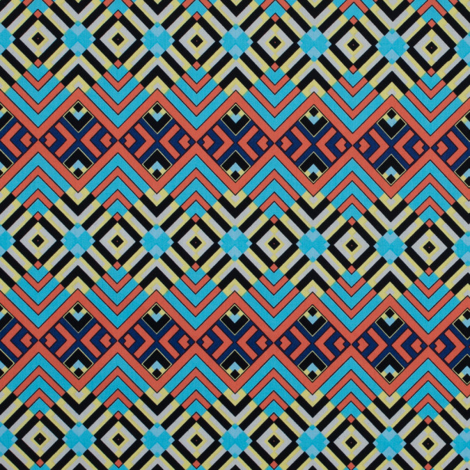 tigerlily and river blue geometric cotton poplin 117292 11