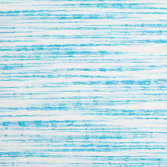 turquoise white textural striated cotton blend 307890 11