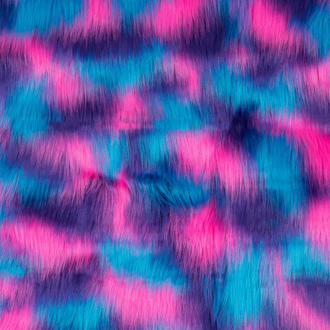 vibrant blue pink and purple faux fur 116550 11