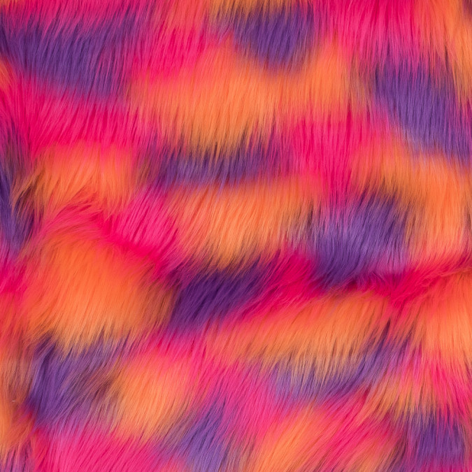 vibrant orange pink and purple faux fur 116549 11