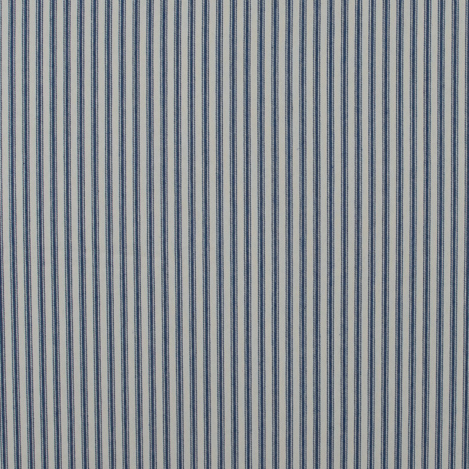 vintage ink and beige ticking striped cotton twill 118040 11