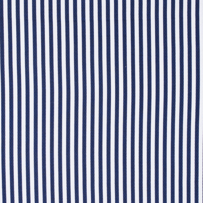 white and navy bengal striped cotton dobby jacquard 304469 11