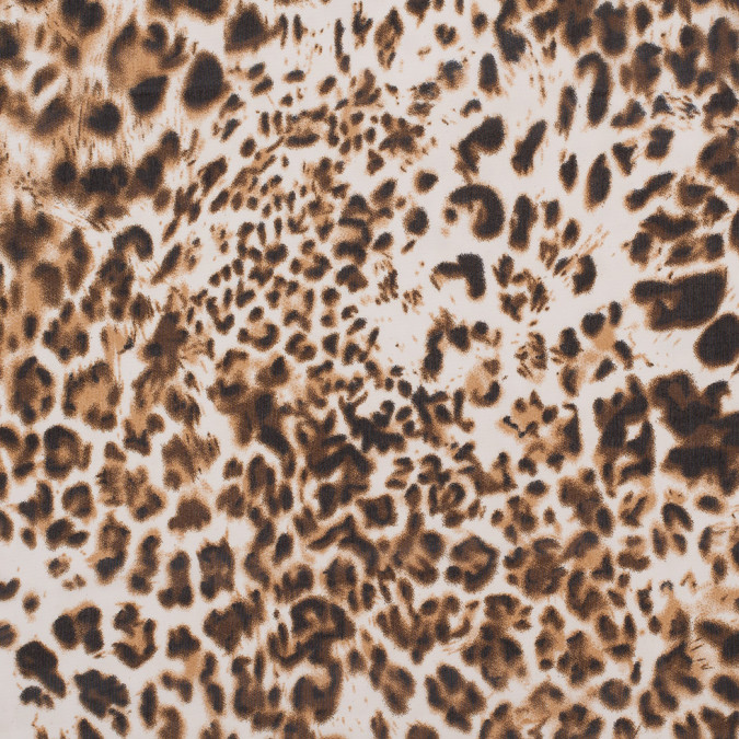 white brown leopard printed polyester chiffon 308843 11