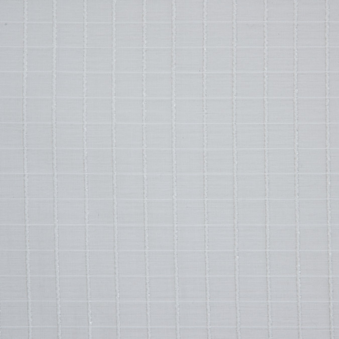 white checkered loosely woven embroidered cotton 309233 11