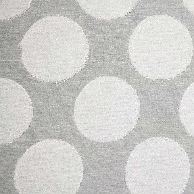 white flocked dotted cotton polyester woven 305675 11