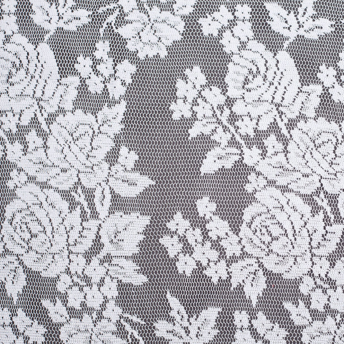 white floral polyester heavy crochet lace 307005 11