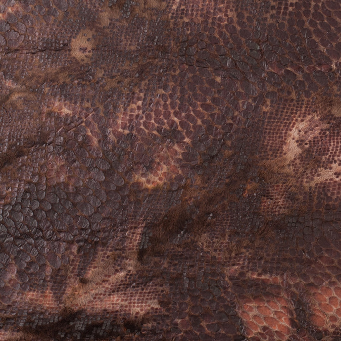 xbrown knitted faux fur with reptillain laminate 307770 11 jpg pagespeed ic yhcCWXursL