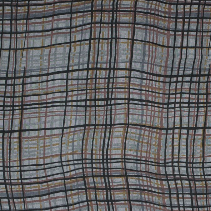 xkhaki and brown plaid printed silk chiffon 315765 11 jpg pagespeed ic PxFmmnjq2l