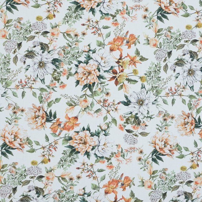 xmood exclusive les fleurs de l amour orange and green cotton poplin md0024 11 jpg pagespeed ic u7EXGH4gfE