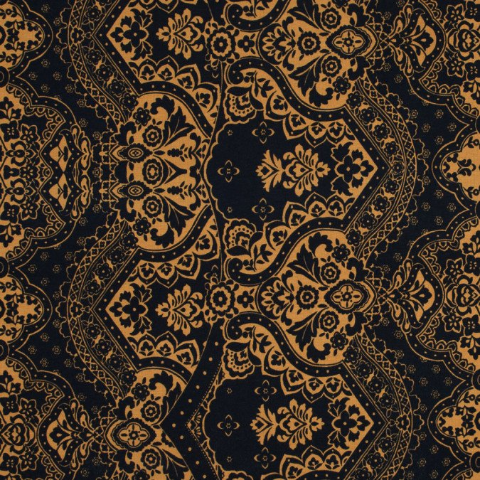 xnew navy and mustard floral printed double knit 317623 11 jpg pagespeed ic 5LM0AwY_yv