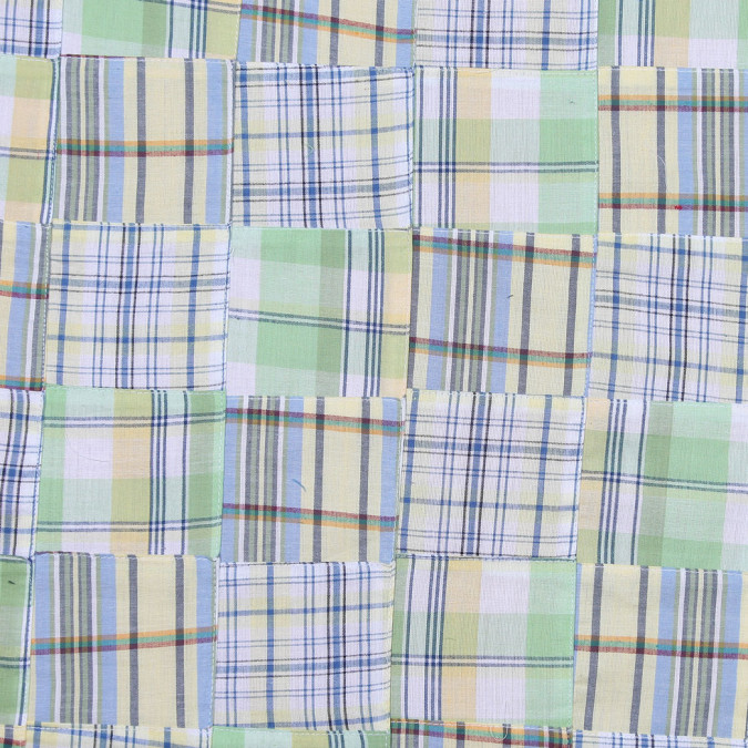 yellow and green multi colored patchwork cotton madras fc19368 11
