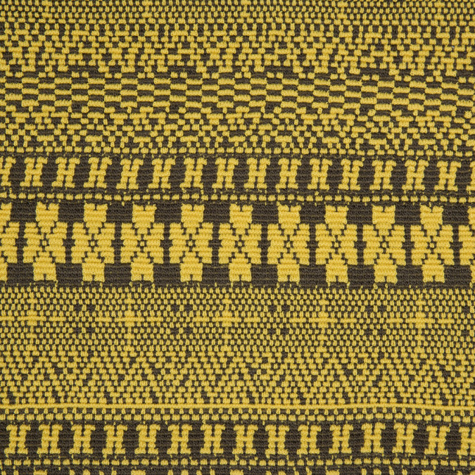 yellow gray textural geometric novelty knit 310810 11