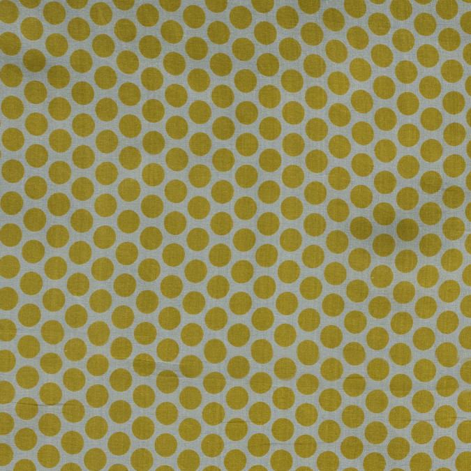 yellow polka dotted silk organza 315928 11
