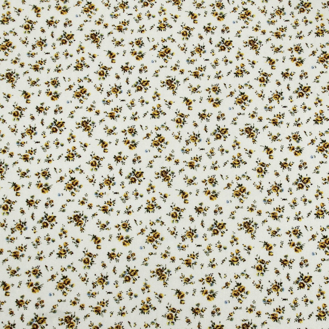 yellow white floral herringbone combed cotton dobby jacquard 308256 11